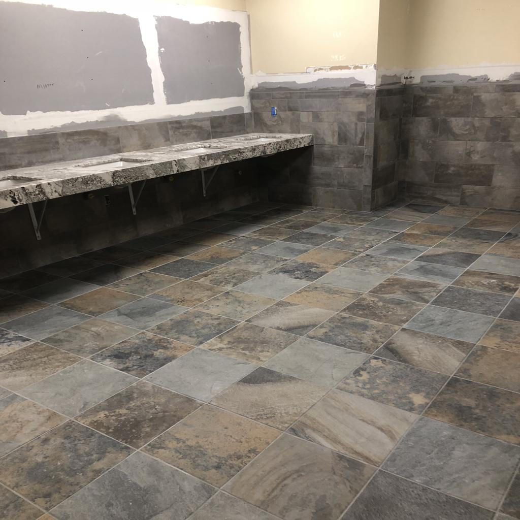 commercial casino bathroom installation